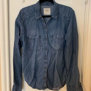 Women's Chambray Jean Button Down Shirt
